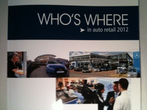 Who's Where in Auto Retail 2012 Cover