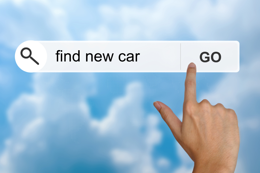 find new car on search toolbar